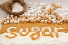 Niezdrowy karmowy cukier Zdjęcie Stock