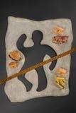 Niezdrowy karmowy zagrożenie zalany zdjęcia stock