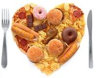 Niezdrowy posiłku pojęcie Zdjęcie Stock