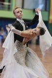 Niezidentyfikowana taniec para Wykonuje Juvenile-1 Standardowego Europejskiego program Obraz Stock