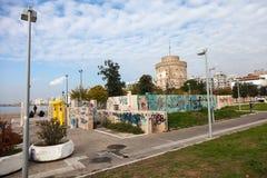 Niezidentyfikowani artystów graffiti Saloniki, Grecja - Zdjęcia Royalty Free