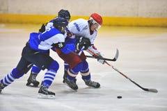 Niezidentyfikowani gracz w hokeja Fotografia Stock