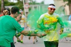 Niezidentyfikowani ludzie przy koloru bieg Zdjęcie Stock