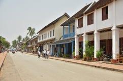 Niezidentyfikowani ludzie w Luang Prabang Fotografia Stock