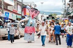 Niezidentyfikowani mężczyzna odzieży ducha kostiumy przy ducha festiwalem Zdjęcia Royalty Free