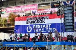 Niezidentyfikowani protestujący zbierają Patumwan skrzyżowanie anty rząd i pytają reformować przed wybory Obraz Royalty Free