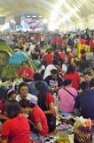 Niezidentyfikowani protestujący zbierają Patumwan skrzyżowanie anty rząd i pytają reformować przed wybory Obrazy Royalty Free