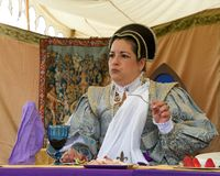 Niezidentyfikowani uczestnicy przy tartanu festiwalem zdjęcia royalty free