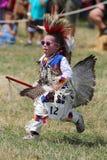 Niezidentyfikowany Młody rodowity amerykanin podczas 40th Rocznego Thunderbird Amerykańsko-indiański Powwow zdjęcia royalty free