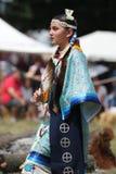 Niezidentyfikowany Młody rodowity amerykanin podczas 40th Rocznego Thunderbird Amerykańsko-indiański Powwow zdjęcie stock