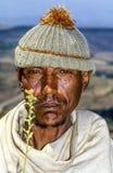 Niezidentyfikowany stary rolnik od Lalibela plemienia zdjęcie royalty free