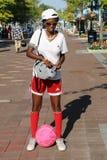Niezidentyfikowany tenisowy fan przy Billie Cajgowego królewiątka tenisa Krajowym centrum w Nowy Jork Obraz Royalty Free