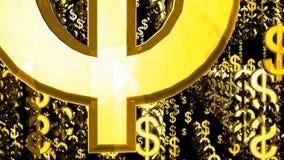 Niezliczony dolarowy symbolu pławik w przestrzeni royalty ilustracja