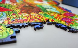 Niezwykłe i piękne postacie kolorowy materiał Różni geometryczni kształty zdjęcie stock