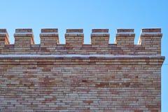 Niezwykła ściana z cegieł od starej cegły fotografia royalty free