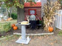 Niezwykła Halloweenowa dekoracja zdjęcie stock