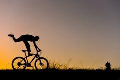 Niezwykła rower przejażdżka w naturze zdjęcie stock