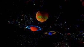 Niezwykłe kolorowe żywe planety Fotografia Royalty Free