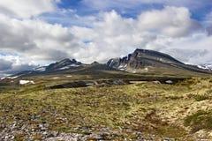 Niezwykłe przyglądające góry w parka narodowego rondane, Norwegia Fotografia Royalty Free