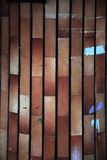 Niezwykły deseniowy ściana z cegieł Zdjęcia Stock