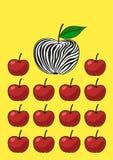 Niezwykły jabłko Zdjęcia Royalty Free