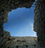 Niezwykły oddolny widok od dungeon w Brahehus kascie, Jonkopings lan, Szwecja zdjęcie stock