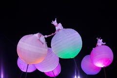 Niezwykła nighttime rozrywka Fotografia Royalty Free