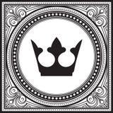 Niezwykły, dekoracyjny koronkowy ornament, kwadratowa rocznik rama z cro Zdjęcia Royalty Free
