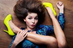 Niezwykle elastyczny kobiety pojęcie zdjęcie royalty free