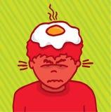 Niezwykle gniewny facet pali wściekłym royalty ilustracja