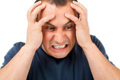 Niezwykle gniewny mężczyzna obrazy stock