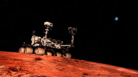 Niezwykle realistyczna i szczegółowa wysoka rozdzielczość 3D ilustracja eksploracja przestrzeni kosmicznej pojazd na Mars Strzał  ilustracja wektor