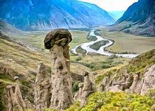 Niezwykli kształty skały tworzyć z natury ilustracji