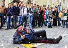 Niezwykli wyrażenia na ulicie fotografia royalty free