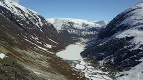 Nigardsbreen冰川空中英尺长度在挪威 股票视频
