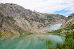 Nigardsbreen冰川,大Jostedalsbreen冰川,挪威,欧洲的一条美丽的胳膊 库存照片