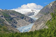 Nigardsbreen冰川,大Jostedalsbreen冰川,挪威,欧洲的一条美丽的胳膊 免版税库存图片