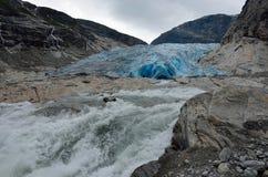 Nigardsbreen冰川,挪威 库存图片