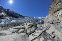 Nigardsbreen冰川- HDR 免版税图库摄影