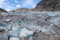 Nigardsbreen是冰川在挪威 库存图片