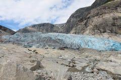 Nigardsbreen是冰川在挪威 图库摄影