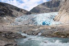 Nigardsbreen è un ghiacciaio in Norvegia Fotografie Stock