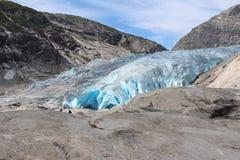 Nigardsbreen é uma geleira em Noruega Foto de Stock