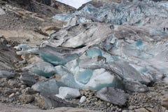 Nigardsbreen é uma geleira em Noruega Imagens de Stock