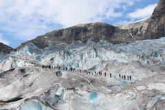 Nigardsbreen ледник в Норвегии стоковые фото