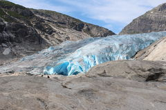 Nigardsbreen is een gletsjer in Noorwegen Stock Foto