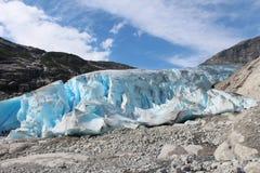 Nigardsbreen is een gletsjer in Noorwegen Stock Foto