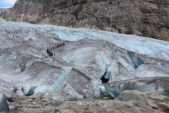 Nigardsbreen is een gletsjer in Noorwegen Stock Afbeeldingen