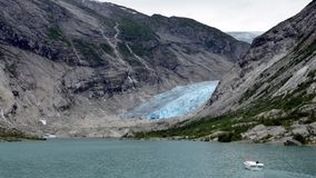 Nigardsbreen glaciär, Norge Arkivfoto