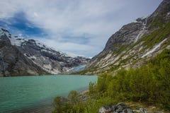 Nigardsbreen Glacier , Jostedalsbreen National Park Stock Images